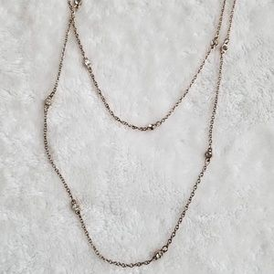 Express Long Layered Rose Gold Necklace